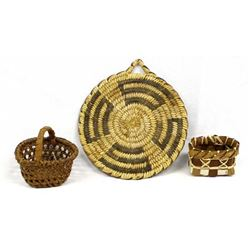 3 Native American Baskets