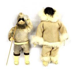 2 Native American Eskimo Dolls