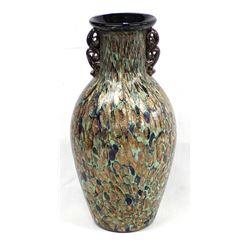 Czech Art Glass Pulled Spout Vase