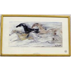 Framed De Grazia Print ''Free As The Wind''