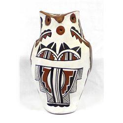 Large Jemez Pueblo Pottery Owl
