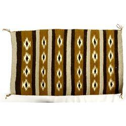 Vintage Navajo Wool Textile Rug by Mary Price