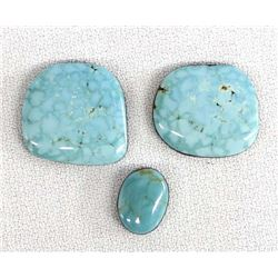3 Royston Turquoise Cabochons