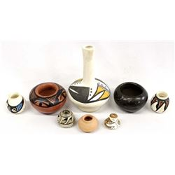 8 Pieces of Native American Pottery Miniatures