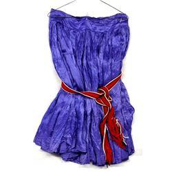 Navajo Silk Skirt with Hand Woven Dance Sash