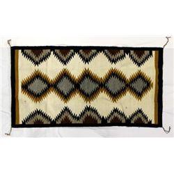 Navajo Serrated Diamond Wool Textile Rug