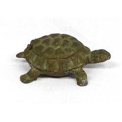 Austrian Cast Iron Hinged Turtle Match Safe