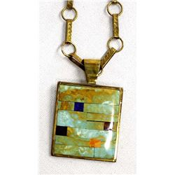 Santo Domingo Pendant Necklace by Orlando Crespin