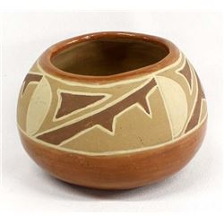 Vintage Native American Santa Clara Pottery Bowl