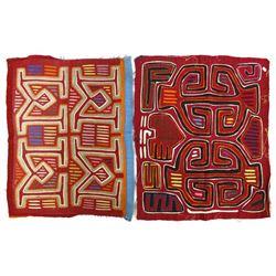 2 South American Kuna Indian Molas