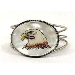 Southwestern Mother of Pearl Eagle Bracelet