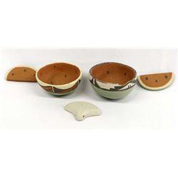 Native American Pottery Watermelon Bowls