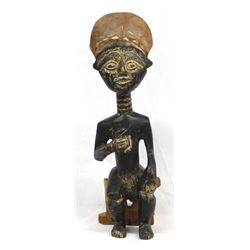 Vintage African Carved Wood Sculpture