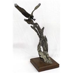 1987 Limited Edition Bronze Eagle Sculpture