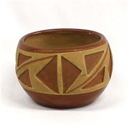 Vintage Native American San Juan Pottery Bowl