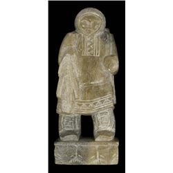 Eskimo Inuit Carved Soapstone Hunter