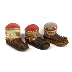 3 Vintage Middle Eastern Shoe Pin Cushions