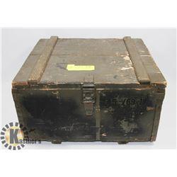 VINTAGE SOLID WOOD AMMO BOX