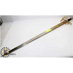 VINTAGE ORNATE SPANISH SWORD.