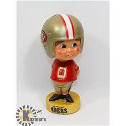 VINTAGE 49ERS FOOTBALL BOBBLE HEAD.