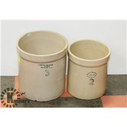 2 REDCLIFF CROCKS WITH NO LIDS.