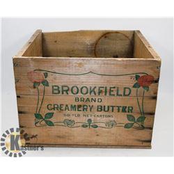 VINTAGE BROOKFIELD CREAMERY BUTTER WOOD CRATE