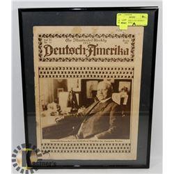 GERMAN-AMERICA 1925 WEEKLY NEWSPAPER WITH