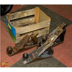 BOX OF 4 WOOD PLANES INCLUDING 2 STANLEY