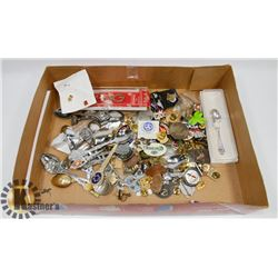 LOT OF COLLECTIBLE PINS AND SPOONS