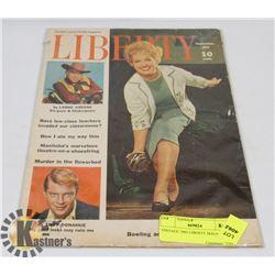 VINTAGE 1962 LIBERTY MAGAZINE