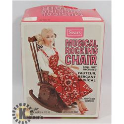 VINTAGE 1960'S MUSICAL ROCKING CHAIR (WORKS)