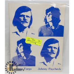 JOHNNY PAYCHECK & WILF CARTER AUTOGRAPHS IN BOOKS