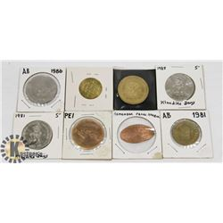 ASSORTMENT OF VINTAGE COINS IN SLEEVES