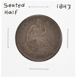 1843 Seated Liberty Half Dollar Coin