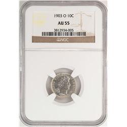 1903-O Barber Dime Coin NGC AU55