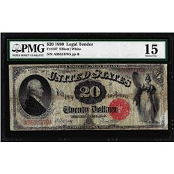 1880 $20 Legal Tender Note Fr.142 PMG Choice Fine 15