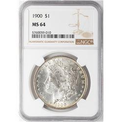 1900 $1 Morgan Silver Dollar Coin NGC MS64