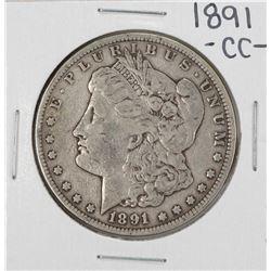 1891-CC $1 Morgan Silver Dollar Coin