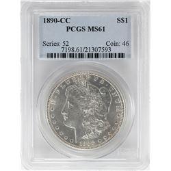 1890-CC $1 Morgan Silver Dollar Coin PCGS MS61
