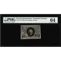 March 3, 1863 10 Cents Second Issue Fractional Currency Note PMG Choice Unc. 64