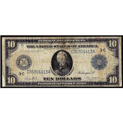 1914 $10 Federal Reserve Note Philadelphia