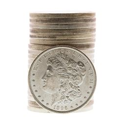 Roll of (20) Brilliant Uncirculated 1896 $1 Morgan Silver Dollar Coins