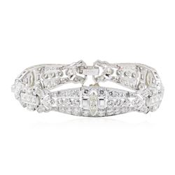 Vintage Platinum 9.65 ctw Diamond Bracelet