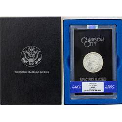 1885-CC $1 Morgan Silver Dollar Coin GSA Hoard Uncirculated w/ Box & COA NGC MS63