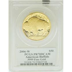 2006-W $50 American Buffalo .9999 Fine Gold Coin PCGS PR70DCAM