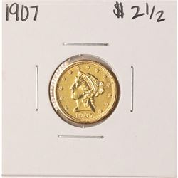 1907 $2 1/2 Liberty Head Quarter Eagle Gold Coin - Soldered