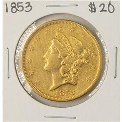 1853 $20 Liberty Head Double Eagle Gold Coin