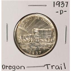 1937-D Oregon Trail Commemorative Half Dollar Coin