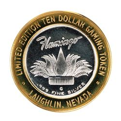 .999 Fine Silver Flamingo Laughlin, Nevada $10 Limited Edition Gaming Token