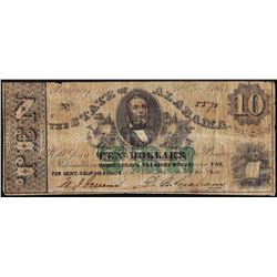 1864 $10 State of Alabama Obsolete Note